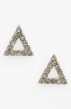 BP. - Crystal Open Triangle Stud Earrings
