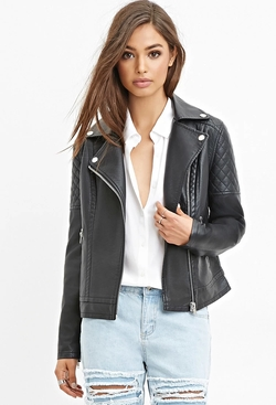 Forever 21 - Quilted Faux Leather Jacket