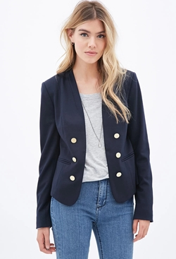Forever21 - Button-Front Blazer