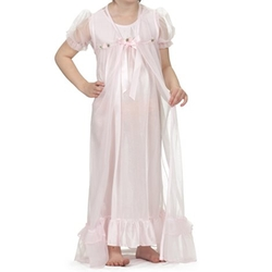 Laura Dare - Short Sleeve Peignoir Gown and Robe Set
