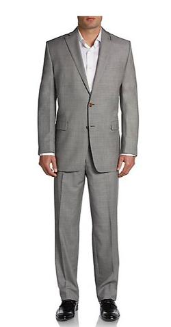 Ralph Lauren - Regular-Fit Sharkskin Wool Suit