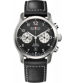 Bremont - Stainless Steel And Leather Chronograph Watch