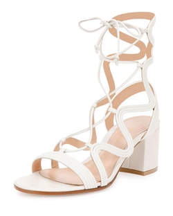 Gianvito Rossi	  - Metallic Loop-Caged Gladiator Sandals