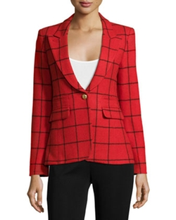 Smythe - Elbow-Patch Grid Blazer