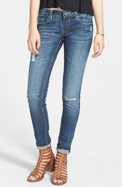 Vigoss - Destroyed Crop Skinny Jeans