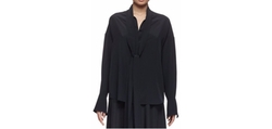 Chloé - Button-Front Tie-Neck Blouse