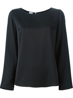 Armani Collezioni - Round Neck Long Sleeve Blouse