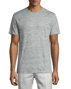 Theory  - Koree Linen Melange Short-Sleeve T-Shirt