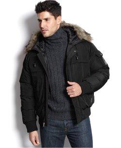 Boston Traders  - Bengaline Hooded Faux-Fur-Trim Bomber Coat