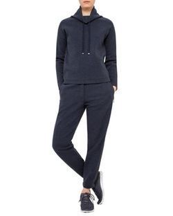 Akris Punto - Long-Sleeve Funnel-Neck Pullover Hoodie