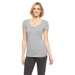Cherokee - Short Sleeve Side Shirred Scoop Neck Tee