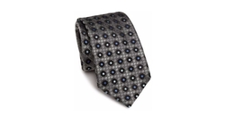 Ermenegildo Zegna - Geometric Patterned Silk Tie
