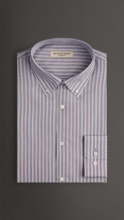 Burberry - Slim Fit Cotton Silk Shirt