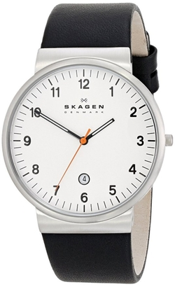 Skagen - Three-Hand Date Leather Watch