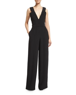 Brandon Maxwell - Sleeveless Wide-Leg Jumpsuit