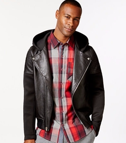 Sean John - Hooded Motorcycle Jacket