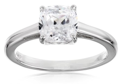 "Myia Passiello - ""Cushion"" Cut Swarovski Zirconia Solitaire Ring"