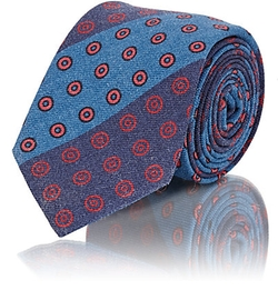 Alexander Olch  - Striped & Circle Print Necktie