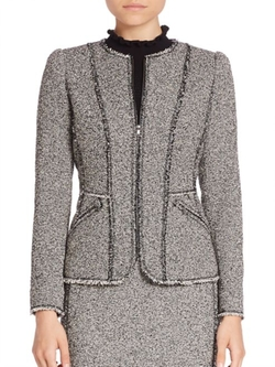 Rebecca Taylor  - Tweed Long Sleeve Jacket