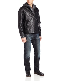 John Henry  -  Pleather Moto Jacket