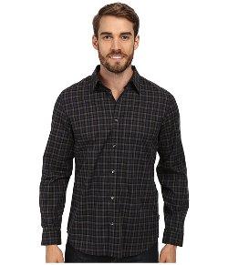 Calvin Klein  - Gingham Heathered Woven Shirt
