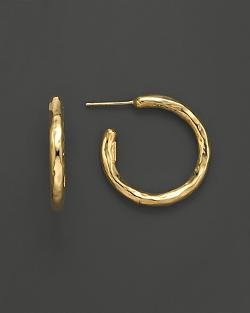 Ippolita - 18K Gold Shiny #2 Hoop Earrings