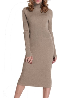 Roco Roca - Turtleneck Ribbed  Sweater Dress