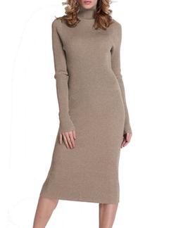 Roco Roca - Turtleneck Ribbed  Sweater Dress