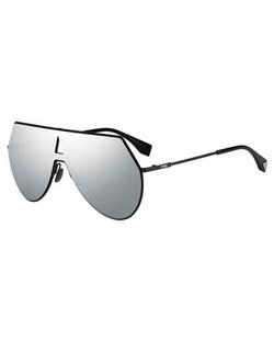 Fendi  - Eyeline Mitered Shield Sunglasses