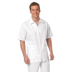 All Heart - Twill Zip Front Short Sleeve Collared Shirt