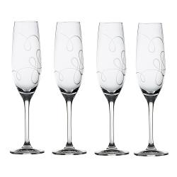 Love Story  - Crystal Champagne Flutes
