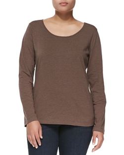Escada - Long-Sleeve Scoop-Neck Knit Blouse