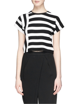 Theory - Seblyn Contrast Stripe T-Shirt
