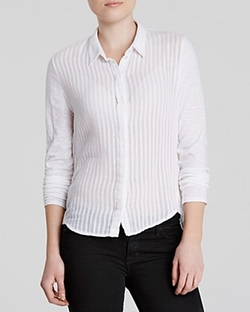 Stateside - Shadow Stripe Button Down Shirt