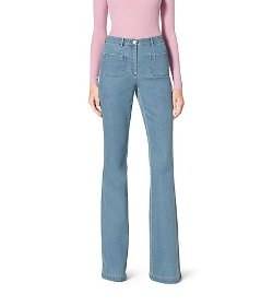 Michael Kors - Washed-Denim Bell Bottom Jeans