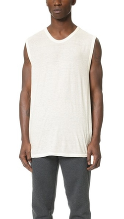 T by Alexander Wang  - Slub Muscle T-Shirt