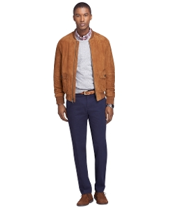 Brooks Brothers - Suede Bomber Jacket