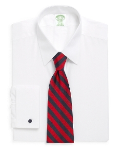 Brooks Brothers - Milano Fit Point Collar French Cuff Dress Shirt
