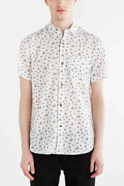 Urban Outfitters - Koto Triangle Breezy Button-Down Shirt