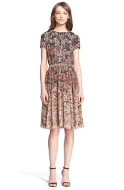 St. John Collection - Print Silk Georgette Dress
