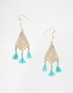 Asos - Limited Edition Mini Filigree Tassel Earrings