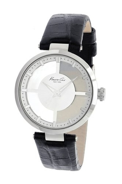 Kenneth Cole New York  - KC2649 Silver Transparent Dial Round Watch