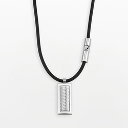 Axl By Triton - Stainless Steel Logo Bullet Pendant