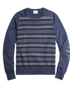 Brooks Brothers - Fair Isle Stripe Crewneck Sweater