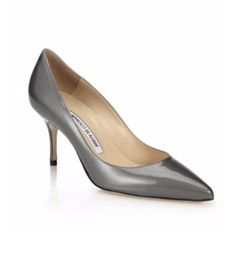 Manolo Blahnik - Nausikaba Patent Leather Pumps