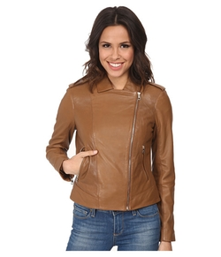 Cole Haan - Leather Moto Jacket