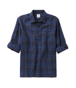 Murano  - Rolled-Sleeve Plaid Linen Sportshirt