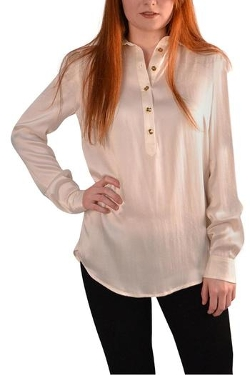 Julie Brown - Ivory Silk Blouse