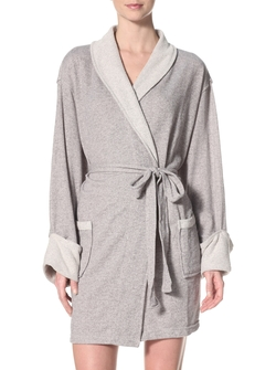 Aegean - Sweatshirt Knit Shawl Collar Robe