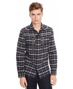 Kenneth Cole New York - Pieced Plaid Shirt